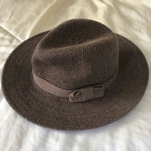 World Market woven fedora in mauve
